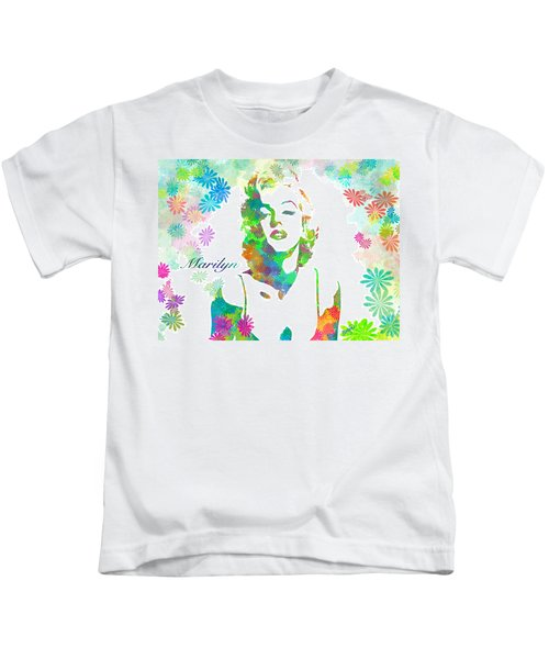 Marilyn Monroe Flowering Beauty Kids T-Shirt