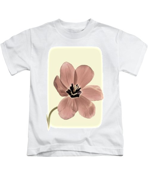 Mauve Tulip Transparency Kids T-Shirt