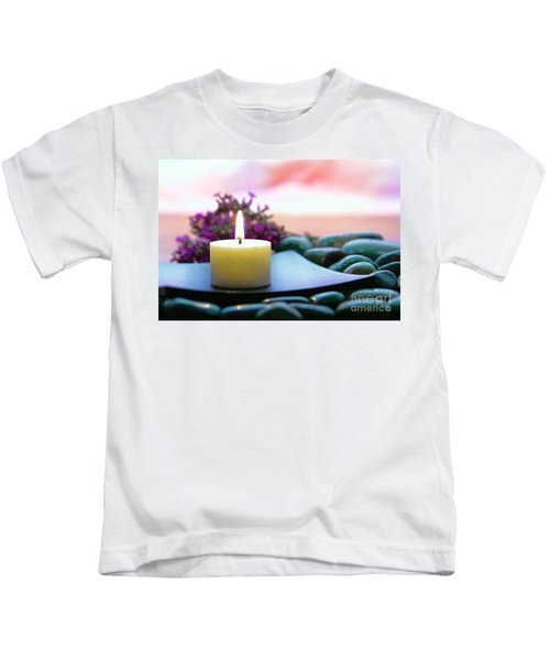 Meditation Candle Kids T-Shirt