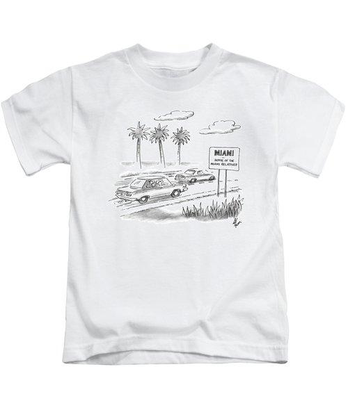 Miami:  Home Of The Miami Relatives Kids T-Shirt