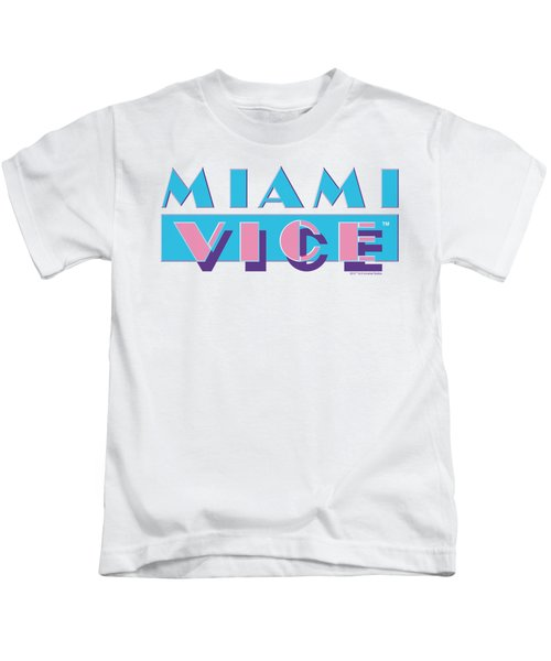 Miami Vice - Logo Kids T-Shirt