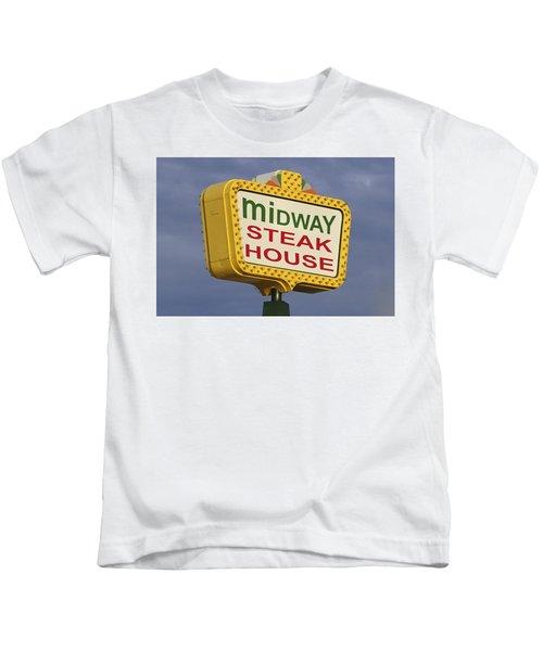 Midway Seaside Heights Boardwalk Nj Kids T-Shirt