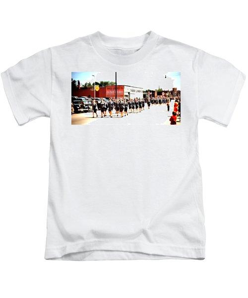 Military Women On Parade Kids T-Shirt