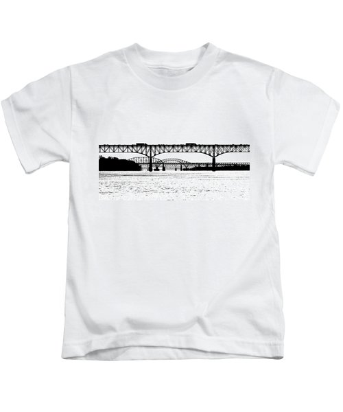 Kids T-Shirt featuring the photograph Millard Tydings Memorial Bridge by William Jobes