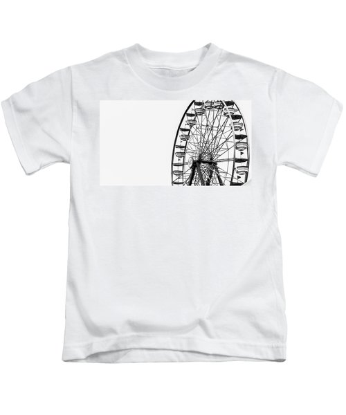 Minimalist Ferris Wheel Kids T-Shirt