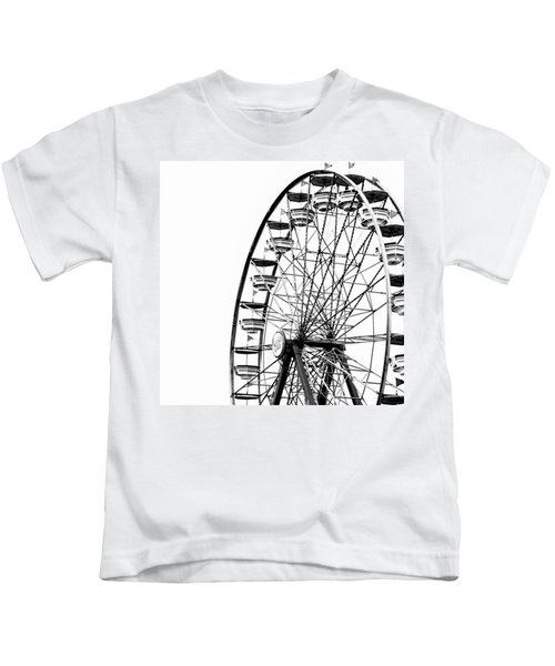 Minimalist Ferris Wheel - Square Kids T-Shirt