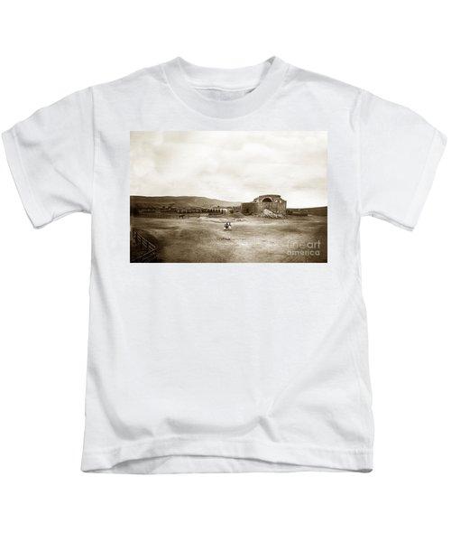 Mission San Juan Capistrano California Circa 1882 By C. E. Watkins Kids T-Shirt