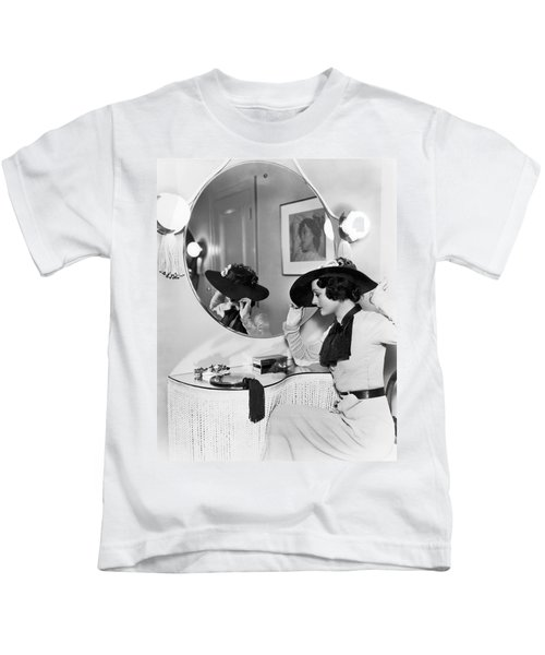 Model In Front Of A Mirror Kids T-Shirt