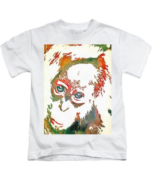 Monkey Pop Art Kids T-Shirt
