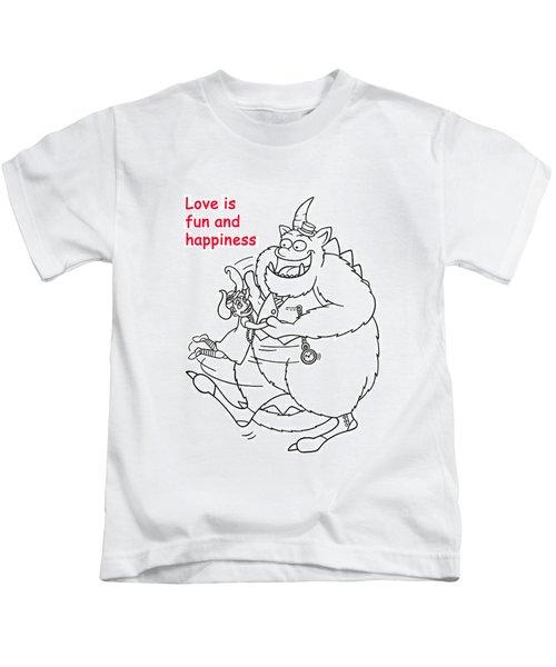 Monster Valentine Kids T-Shirt