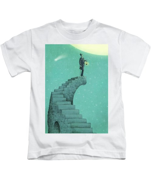 Moon Steps Kids T-Shirt