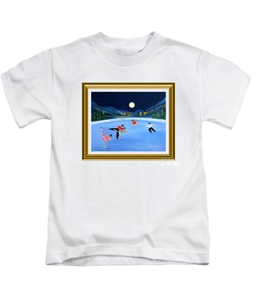Moonlight Skating. Inspirations Collection. Card Kids T-Shirt