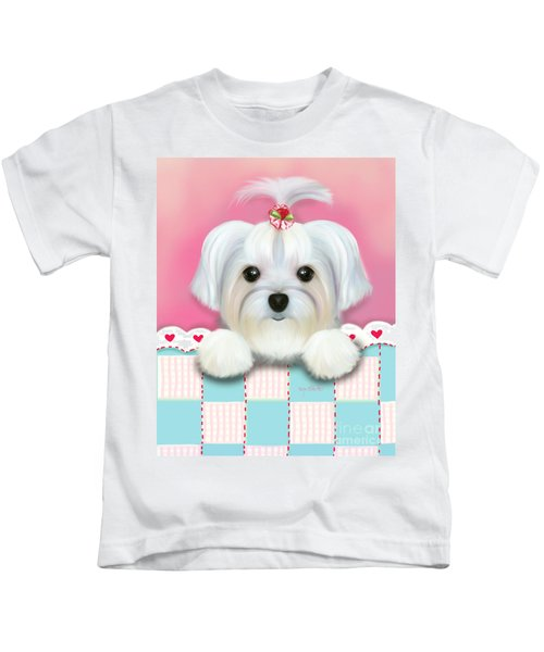 Morkie Shelly Kids T-Shirt