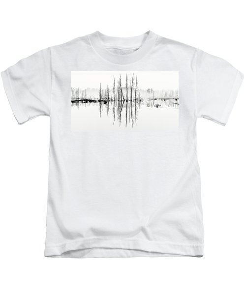 Morning Mystery Pine Lands Kids T-Shirt
