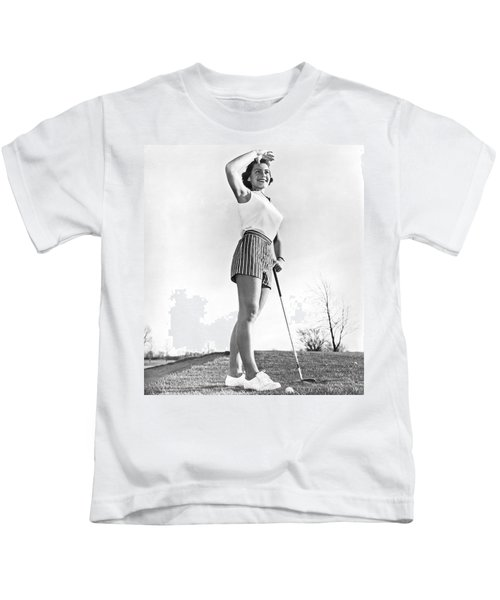 Most Beautiful Golfer Of 1957 Kids T-Shirt