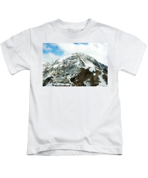 Mountain Covered With Snow Kids T-Shirt