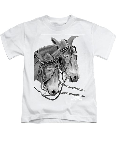Mules - Beast Of Burden - B And W Kids T-Shirt