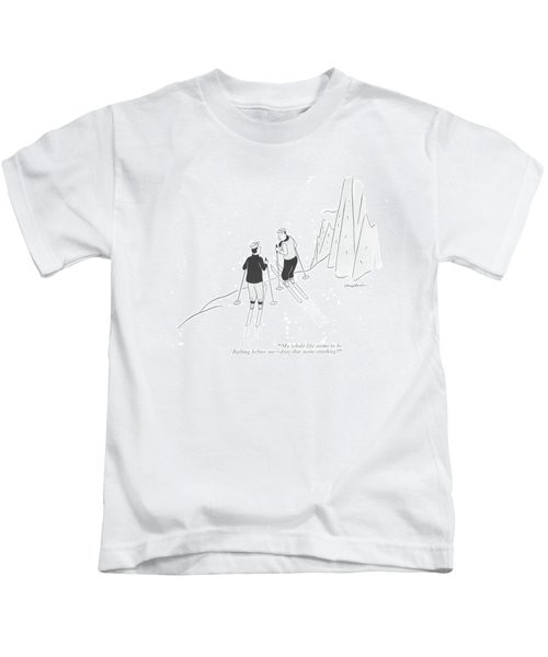 My Whole Life Seems To Be ?ashing Before Me - Kids T-Shirt