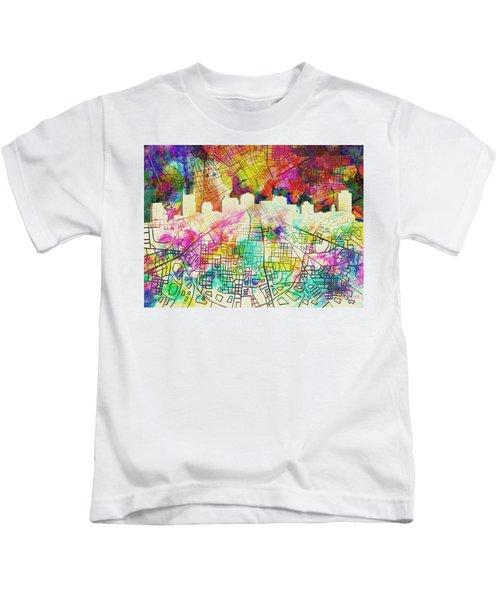 Nashville Skyline Watercolor 7 Kids T-Shirt