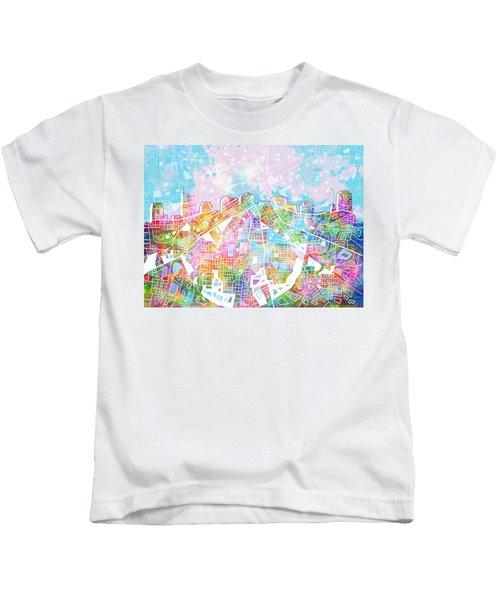 Nashville Skyline Watercolor 8 Kids T-Shirt