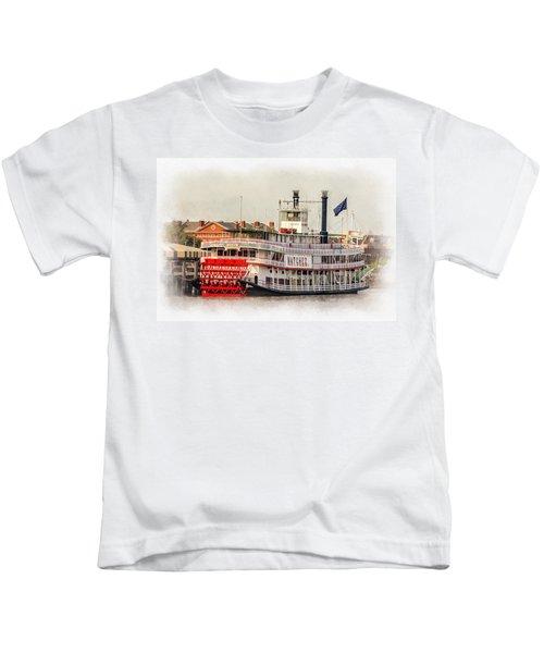 Natchez Sternwheeler Paint Kids T-Shirt