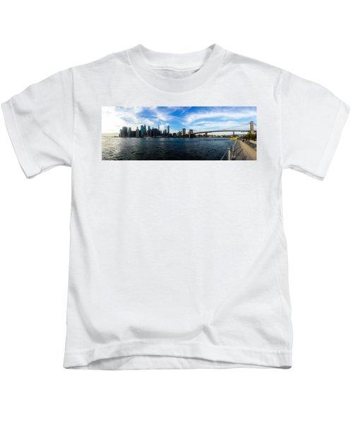New York Skyline - Color Kids T-Shirt