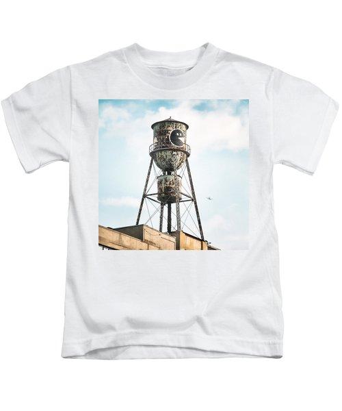 New York Water Towers 9 - Bed Stuy Brooklyn Kids T-Shirt