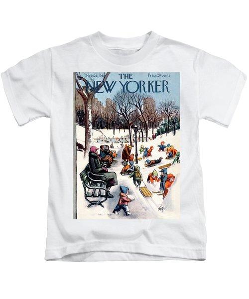 New Yorker February 26th, 1955 Kids T-Shirt