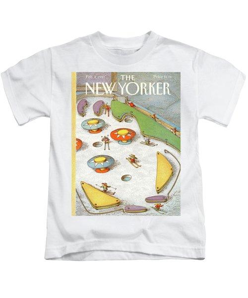 New Yorker February 4th, 1991 Kids T-Shirt
