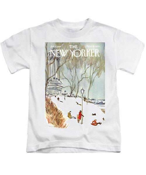 New Yorker January 27th, 1968 Kids T-Shirt