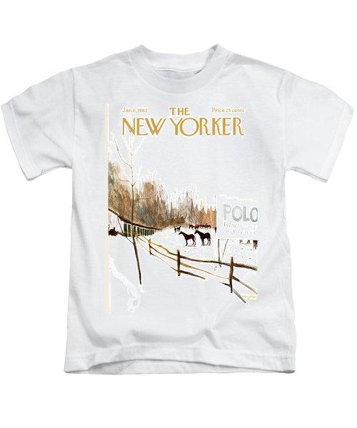 New Yorker January 6th, 1962 Kids T-Shirt