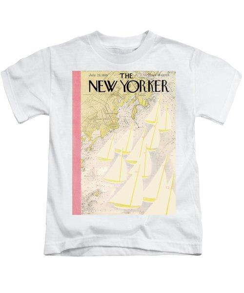 New Yorker July 23rd, 1938 Kids T-Shirt