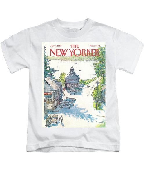 New Yorker July 4th, 1983 Kids T-Shirt