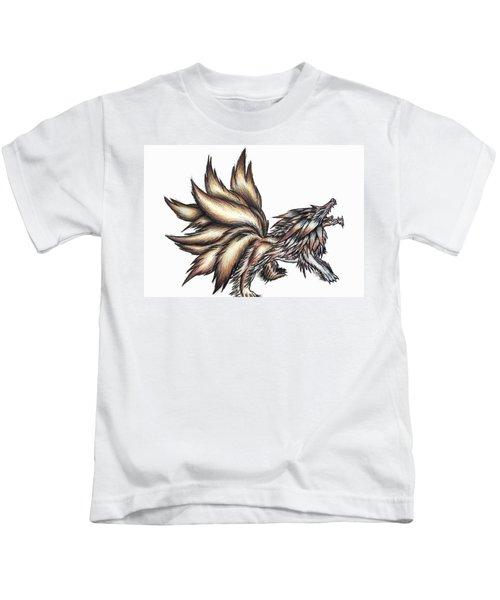 Nine Tails Wolf Demon Kids T-Shirt