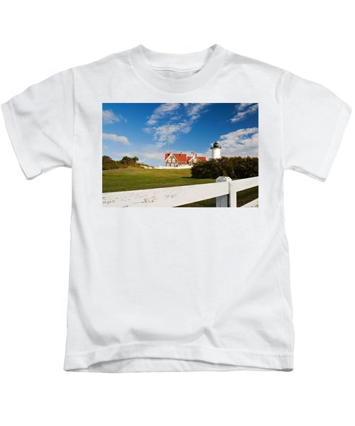 Nobska Point Lighthouse Kids T-Shirt
