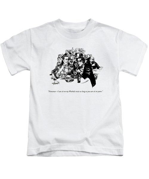 Nonsense - I Can Sit On My Warhols Twice As Long Kids T-Shirt