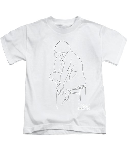 Nude Female Drawings 12 Kids T-Shirt