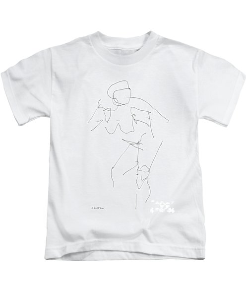 Nude Female Drawings 14 Kids T-Shirt