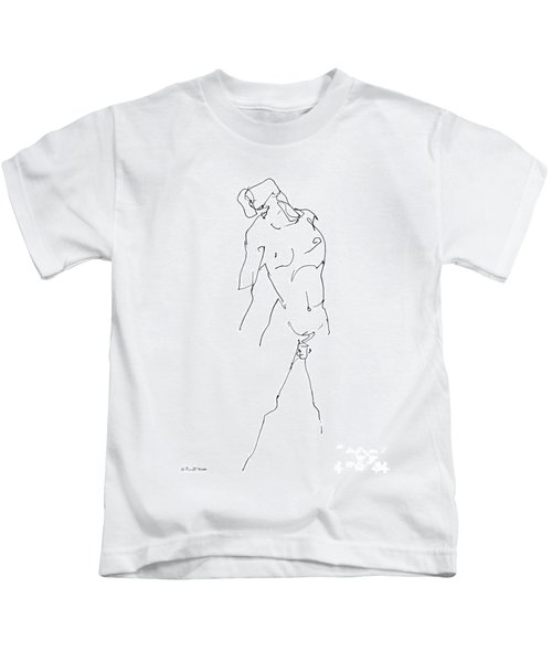 Nude-male-drawing-11 Kids T-Shirt