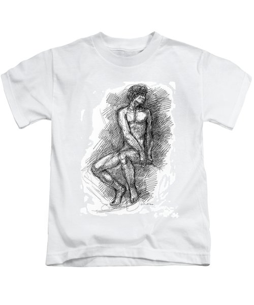 Nude Male Sketches 1 Kids T-Shirt
