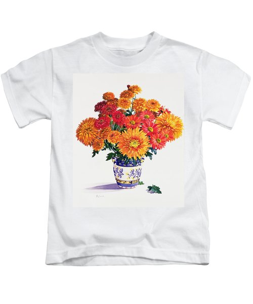 October Chrysanthemums Kids T-Shirt