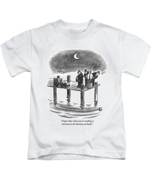 On A Pier, Three Mobsters Prepare To Drown Kids T-Shirt