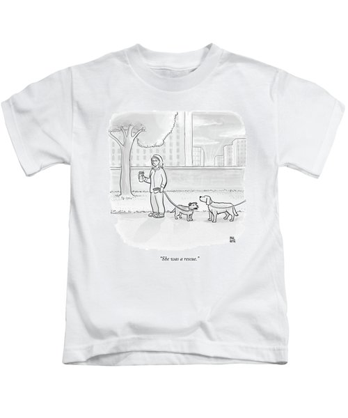 One Dog Talks To Another Kids T-Shirt