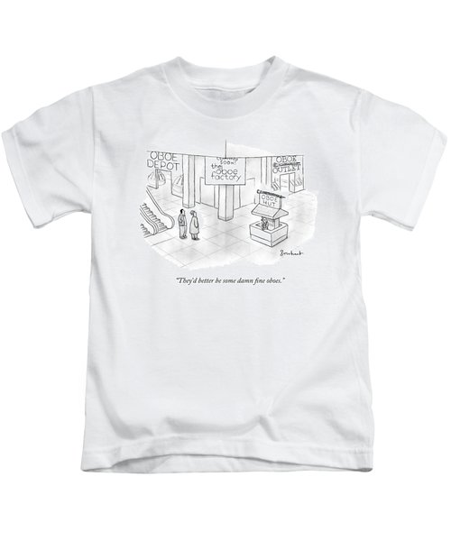 One Guy Speaks To Another Guy Kids T-Shirt