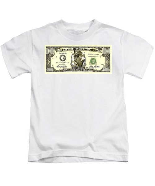 One Million Dollar Bill Kids T-Shirt