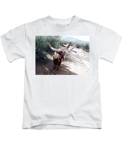 Out Of Africa  Long Horns Kids T-Shirt
