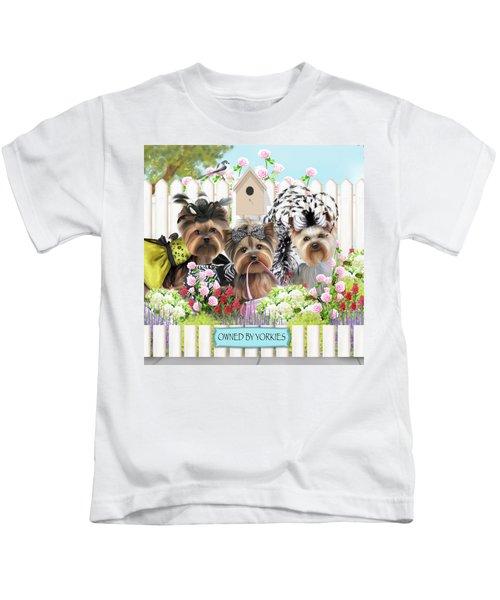 Owned By Yorkies II Kids T-Shirt