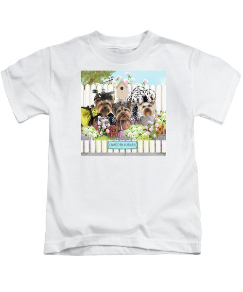 Owned By Yorkies II Kids T-Shirt