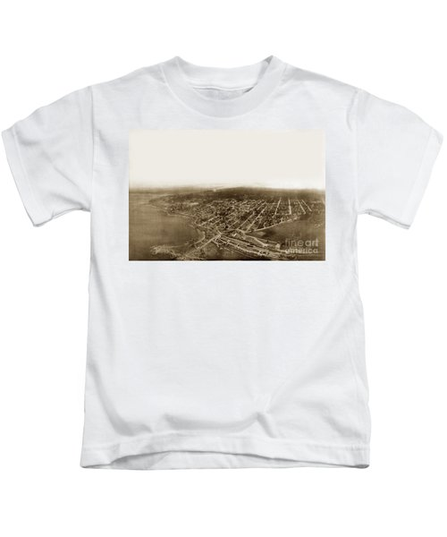 Pacific Grove 1200 From Feet Above Lovers Point And Monterey Bay 1906 Kids T-Shirt