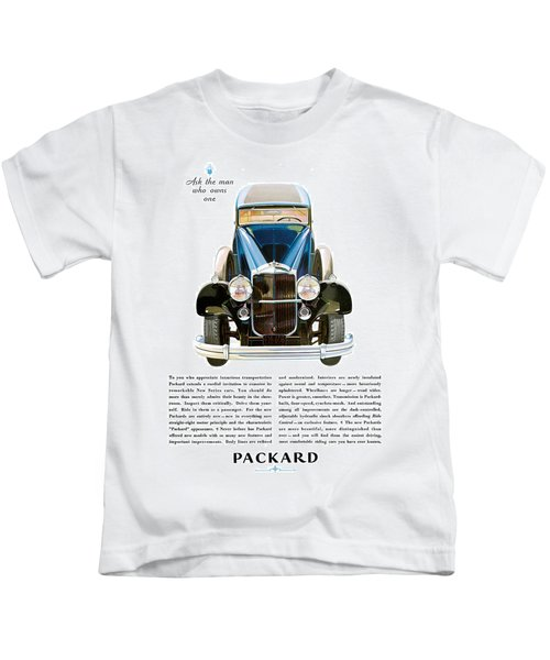 Packard Automobile - Vintage Poster Kids T-Shirt